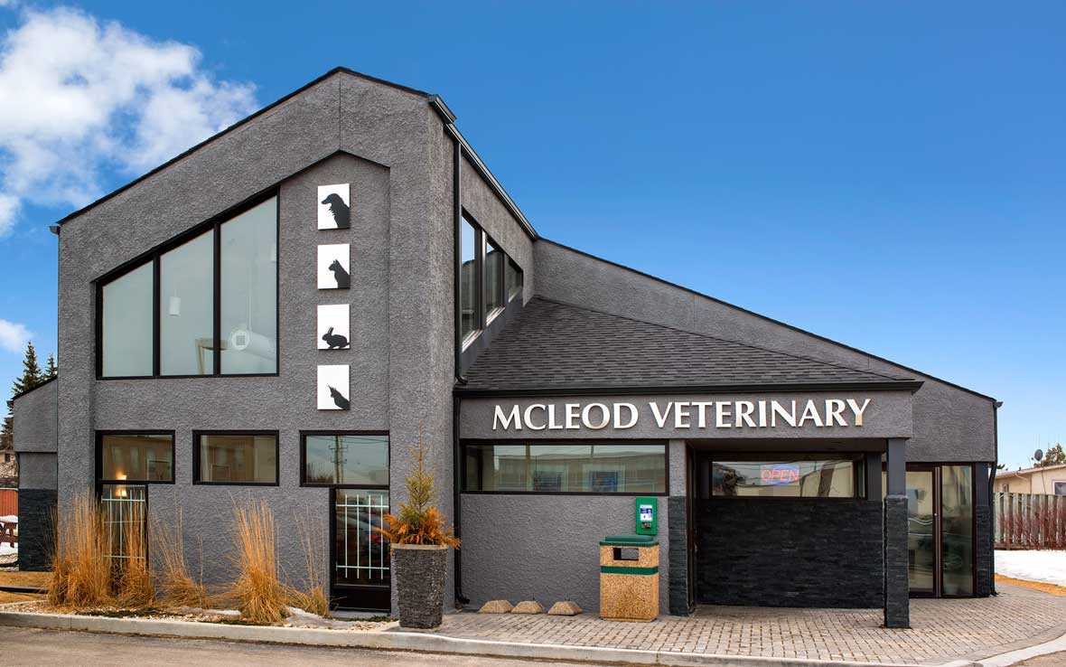 The exterior of McLeod Veterinary Hospital