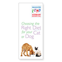 Download McLeod Vet Clinic's information on choosing the right diet for your cat or dog