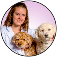 Dr. Emily Martens is one of the friendly doctors at McLeod Veterinary Hospital.