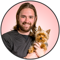 Jeff Allen is one of the friendly and professional veterinary assistants at McLeod Veterinary Hospital.