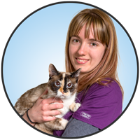 Jennifer Peters is one of the compasionate animal health technologists with the friendly staff at McLeod Vet Hospital.